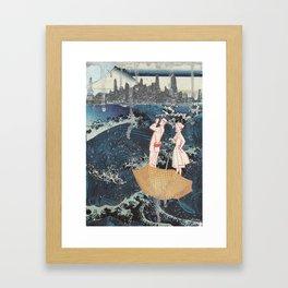 Tourists (After Hokusai) Framed Art Print