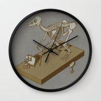 renaissance Wall Clocks featuring Jurasic renaissance. by JCMaziu