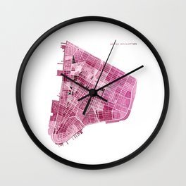 Lower Manhattan, New York Wall Clock