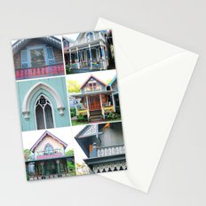 Pretty Cottages all in a Row Stationery Cards