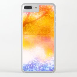 Wild, Mystic and Romance Landscape Clear iPhone Case