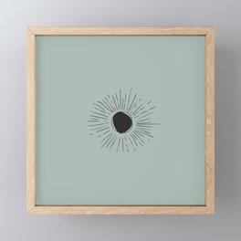 Sun Line Drawing - Black Framed Mini Art Print