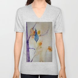 NutHatch Down watercolour by CheyAnne Sexton Unisex V-Neck