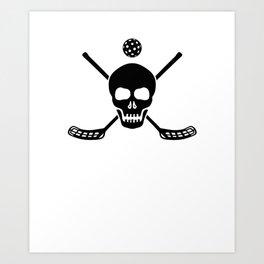 Floorball Hockey Art Print