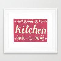 kitchen Framed Art Prints featuring Kitchen by Leah Doguet