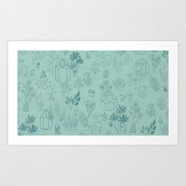 Cristal garden Art Print