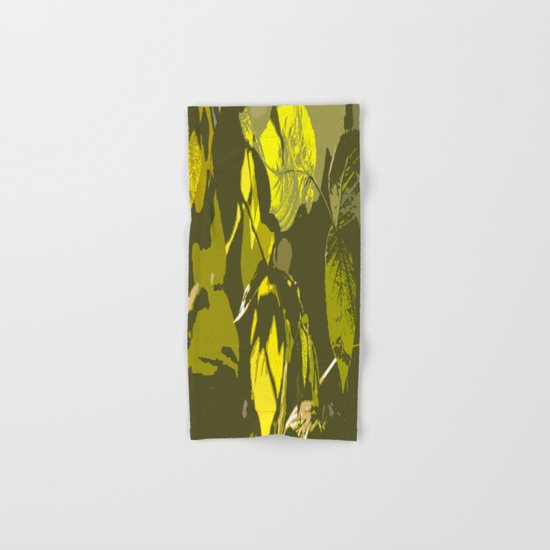 Autumn leaves bathing in sunlight Hand & Bath Towel