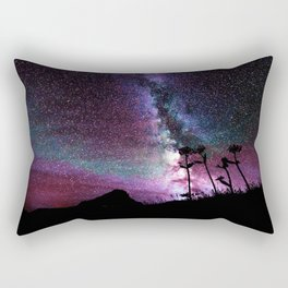 Milky Way Landscape Deep Purple Blue Teal Rectangular Pillow