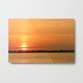 Detroit River Sunrise Metal Print