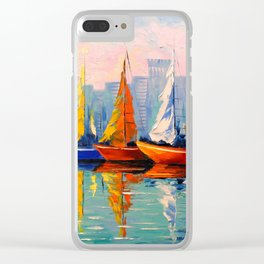 Sailboats in the Bay Clear iPhone Case