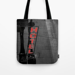 Hotel in Genova Black and White Photography Italy Tote Bag