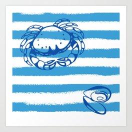 Mediterranean Nautical decor Art Print