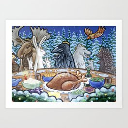 Everyone Is Invited To The Feast Art Print