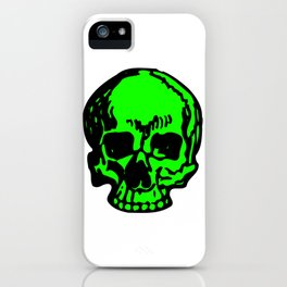 Green Pirate Skull, Vibrant Skull, Super-Smooth Super-Sharp 9000px x 11250px PNG iPhone Case
