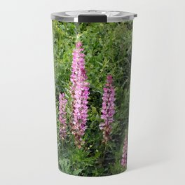 Blue and Pink Through a Glass Darkly Travel Mug