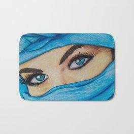 Blue-Eyed Girl Bath Mat
