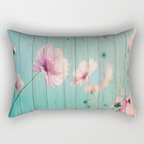 Sweet Flowers on Wood 07 Rectangular Pillow