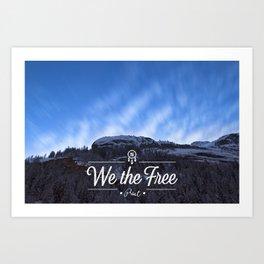 Mountain Sky Wethefree Art Print