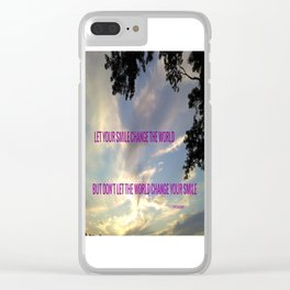 """"""" SMILE """" Clear iPhone Case"""