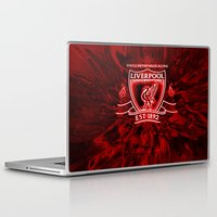 liverpool Laptop & iPad Skins featuring LIVERPOOL LOVER by Acus