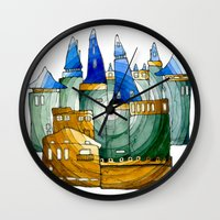 castle Wall Clocks featuring Castle by Isdsfsf