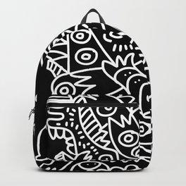 Black and White Street Art Tribal Graffiti Backpack