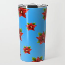 Red Flowers Pattern 2 Travel Mug