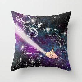 Exploring The Star Fish Constellations Throw Pillow