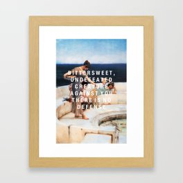 bittersweet, undefeated  Framed Art Print