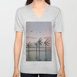 Cairns Woven Fish Sculpture (Group) | Cairns Australia Ocean Sunrise Travel Photography Unisex V-Neck