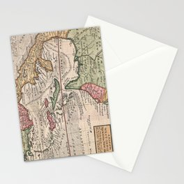 Vintage Map of the Caribbean (1732) Stationery Cards