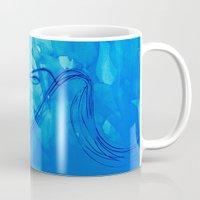 aquarius Mugs featuring Aquarius  by HollyJonesEcu
