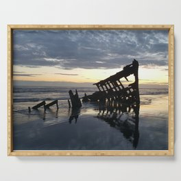 Shipwreck on the Shoreline Serving Tray