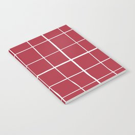 Wonky grid on red ground Notebook