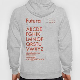 Futura Typography Poster Hoody