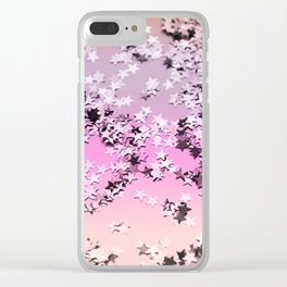 Unicorn Girls Glitter Stars #8 #shiny #decor #art #society6 Clear iPhone Case