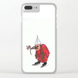 Bird With Letter Clear iPhone Case
