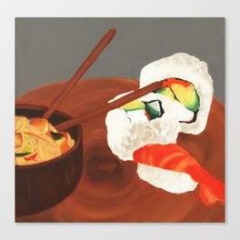 Sushi love. Canvas Print