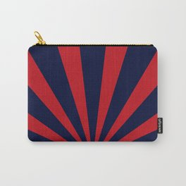 Retro dark blue and red sunburst style abstract background. Carry-All Pouch
