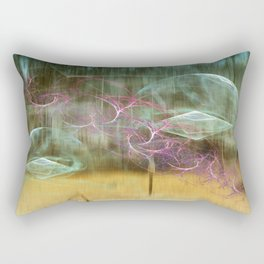Laundry Line in Abstract Rectangular Pillow