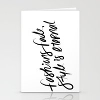 ysl Stationery Cards featuring Style is Eternal by Megan Carty