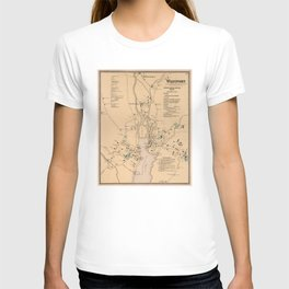 Vintage Map of Westport CT (1867) T-shirt