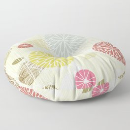Abstract Floral Beige by Friztin Floor Pillow
