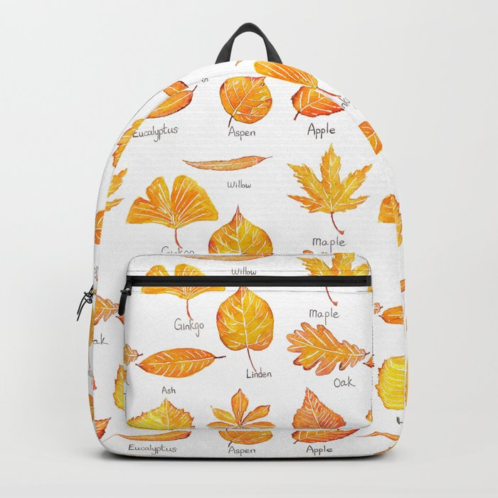 yellow leaves collection Backpack