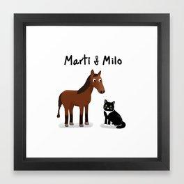 "Custom Art ""Marti & Milo"" Framed Art Print"