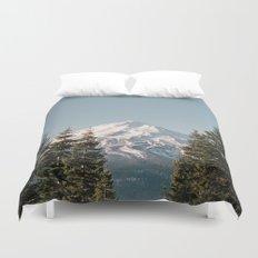 Mt Shasta Morning Duvet Cover