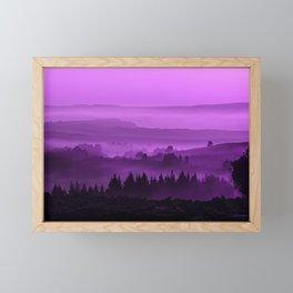 My road, my way. Purple. Framed Mini Art Print