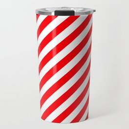 Christmas Red and White Candy Cane Stripes Travel Mug