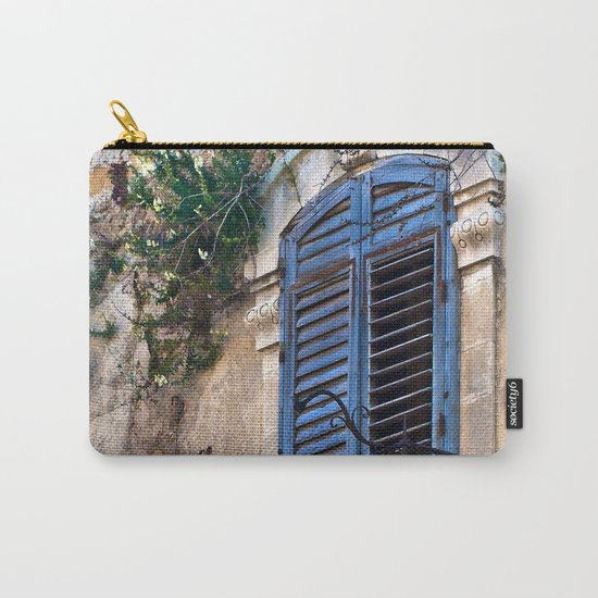 Blue Sicilian Door on the Balcony Carry-All Pouch
