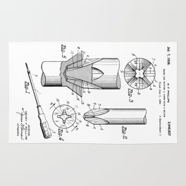 Phillips Screwdriver: Henry F. Phillips Screwdriver Patent Rug